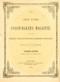 Cover of The New York coach-maker's magazine
