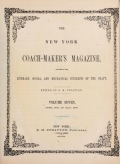 """Cover of """"The New York coach-maker's magazine"""""""