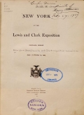 Cover of New York at the Lewis and Clark exposition