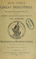 Cover of New York's great industries