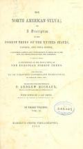 "Cover of ""The North American sylva v.2 (1853)"""