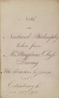 Cover of Notes on Natural Philosophy