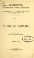 Cover of Notes on Panama