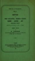 Cover of Notice des bois sculptés