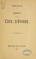 Cover of Notice-sur la Côte d'Ivoire