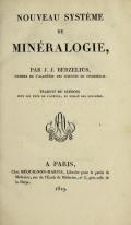 Cover of Nouveau système de minéralogie