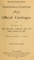 Cover of Official catalogue