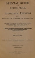 Cover of Official guide to the Cotton States and International Exposition