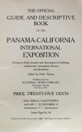 Cover of The official guide and descriptive book of the Panama-California International Exposition