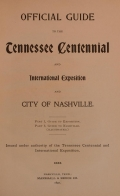 Cover of Official guide to the Tennessee Centennial and International Exposition and City of Nashville