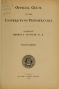 Cover of Official guide to the University of Pennsylvania