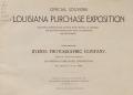 Cover of Official souvenir Louisiana Purchase Exposition