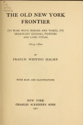 Cover of The old New York frontier