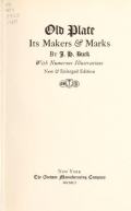 Cover of Old plate, its makers & marks