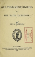 Cover of Old Testament stories in the Haida language