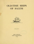 Cover of Old-time ships of Salem