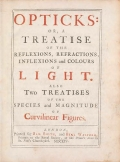 Cover of Opticks- or, A treatise of the reflections, refractions, inflexions and colours of light