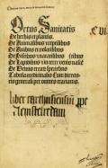 """Cover of """"Ortus sanitatis."""""""
