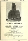 """Cover of """"Paint products of Benjamin Moore & Co"""""""