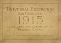 "Cover of ""Panama-Pacific International Exposition, at the city of San Francisco in the state of California, February twentieth to December fourth, 1915, by auth"""