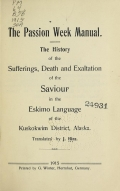 Cover of The passion week manual