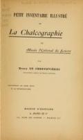 Cover of Petit inventaire illustré de la Chalcographie du Musée national du Louvre