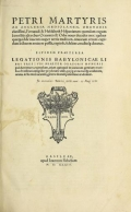 Cover of Petri Martyris ab Angleria, Mediolanen. oratoris clarissimi.