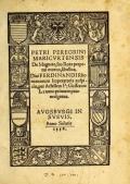 """Cover of """"Petri Peregrini Maricurtensis De magnete, seu, Rota perpetui motus, libellus ... /"""""""