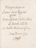 "Cover of ""Philosofiae scripta mei Joannis Ancini Regiensis lectore"""
