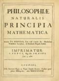 Cover of Philosophiae naturalis principia mathematica