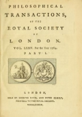 "Cover of ""Philosophical transactions of the Royal Society of London v. 74 (1784)"""