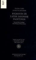 """Cover of """"Pigments in later Japanese paintings"""""""