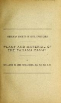 Cover of Plant and material of the Panama Canal