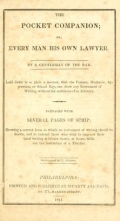 Cover of The pocket companion, or, Every man his own lawyer