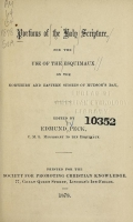 Cover of Portions of the Holy Scripture