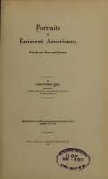 Cover of Portraits of eminent Americans