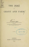 """Cover of """"The post in grant and farm"""""""