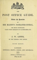 "Cover of ""The post office guide"""