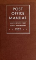 Cover of Post office manual.