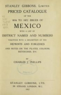 "Cover of ""Priced catalogue of the 1856 to 1872 issues of Mexico"""