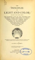 Cover of The principles of light and color