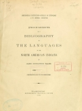 Cover of Proof-sheets of a bibliography of the languages of the North American Indians
