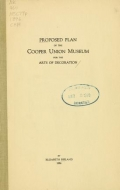 Cover of Proposed plan of the Cooper Union Museum for the Arts of Decoration