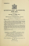 Queensland handbook, with map / compiled by Walter B. Paton ; and issued by the Emigrants' Information Office