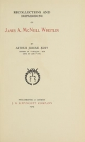 Cover of Recollections and impressions of James A. McNeill Whistler