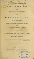 Cover of Recollections and private memoirs of Washington