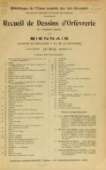 Cover of Recueil de dessins d'orfevrerie du premier empire par biennais orfevre de Napoléon 1er et de la couronne