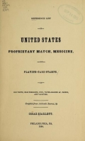 Cover of Reference list of United States proprietary match, medicine, and playing-card stamps