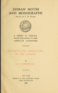 Cover of Religion and ceremonies of the Lenape