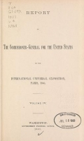 Cover of Report of the commissioner-general for the United States to the International universal exposition, Paris, 1900 ... February 28, 1901 v. 4